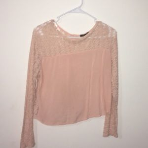 Peach pink blouse